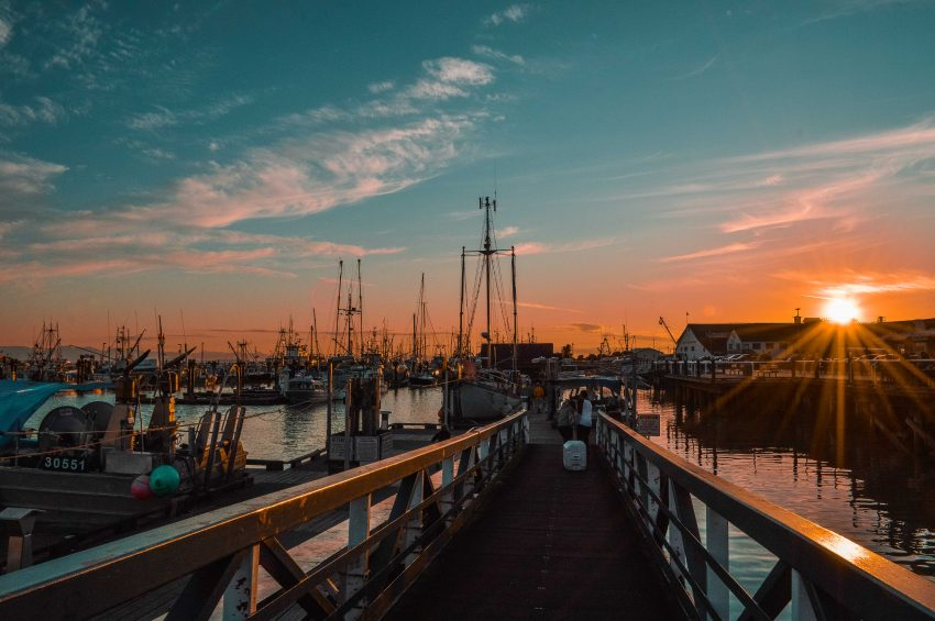Sunsets in Steveston, BC. Check out my guide to the best things to do in Steveston near Vancouver.