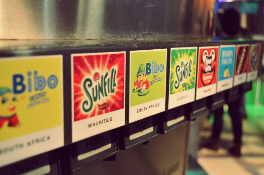 Tasting zone at the World of Coca Cola in Atlanta, Georgia