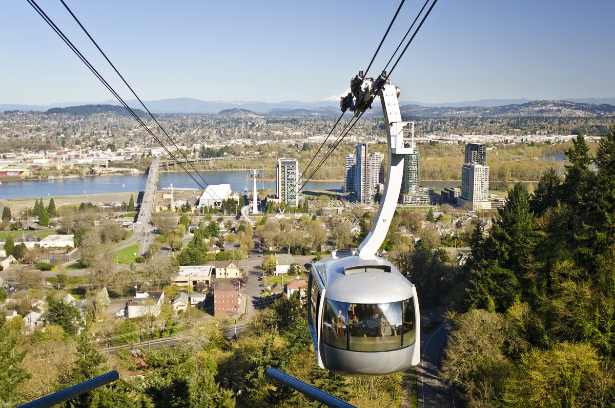 Fun things to do in Portland, Oregon - hop aboard the Aerial Tram
