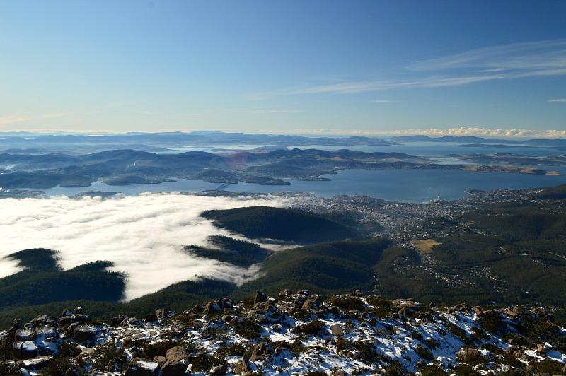 Things to do in Hobart Tasmania: visit Mount Wellington