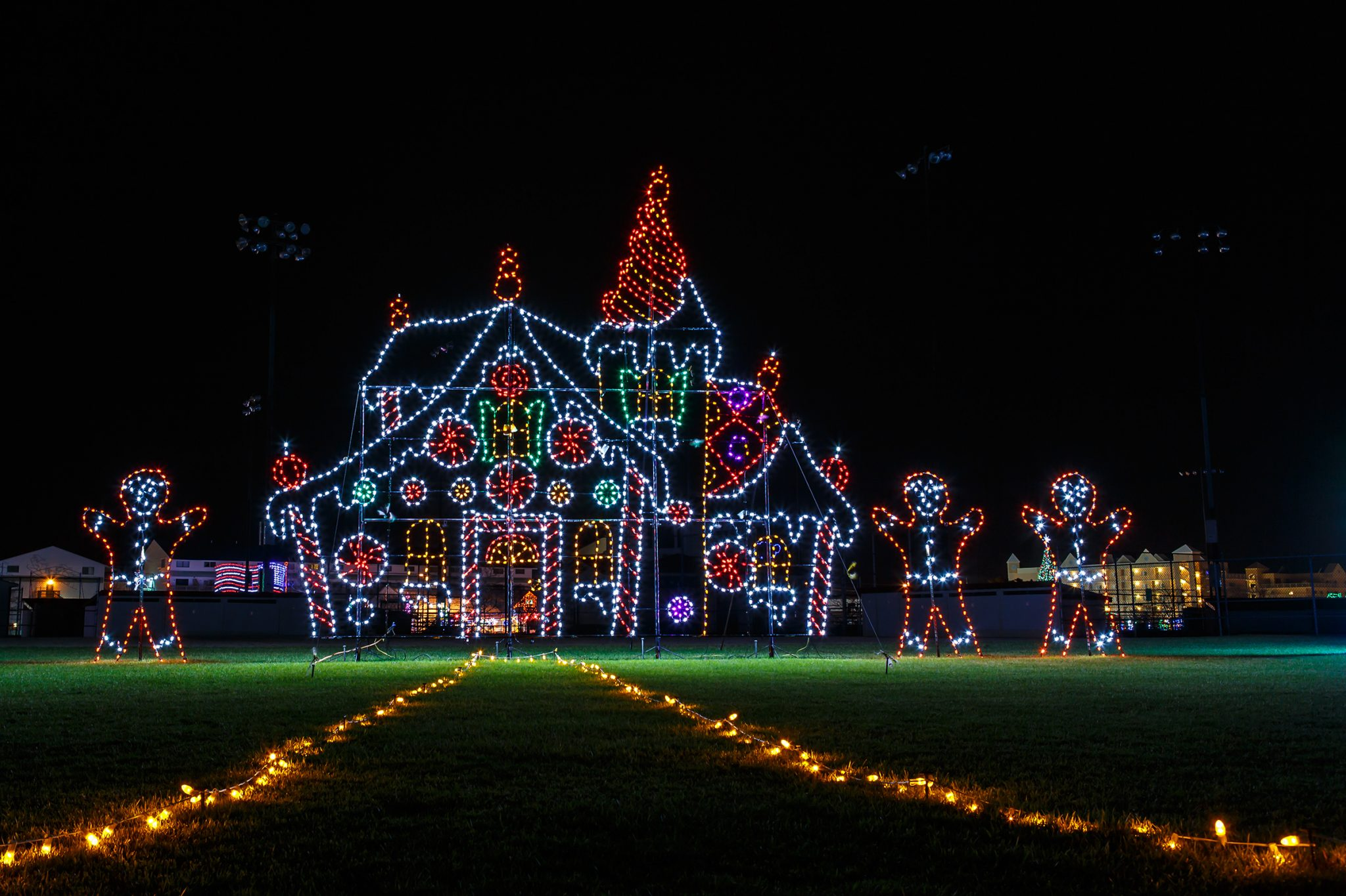 Winterfest Christmas lights display in Ocean City, Maryland