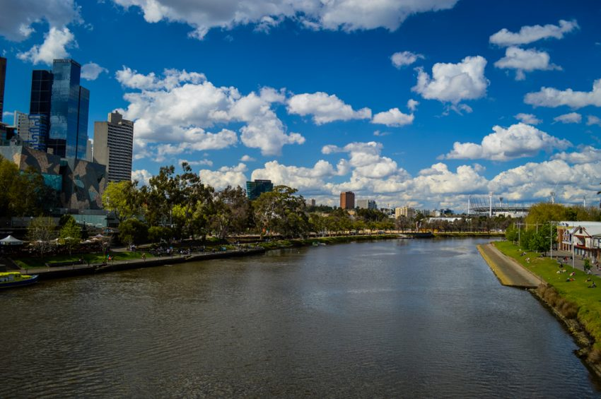 Looking over the Yarra River and MCG in Melbourne
