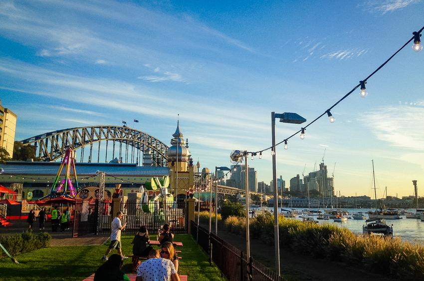 Luna Park Sydney on New Year's Eve