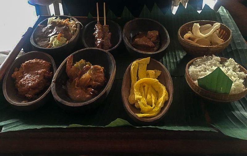 Nasi Campur at Rama Garden Legian Restaurant