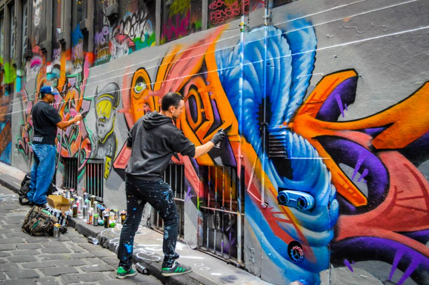 Move to Melbourne for the street art in Hosier Lane