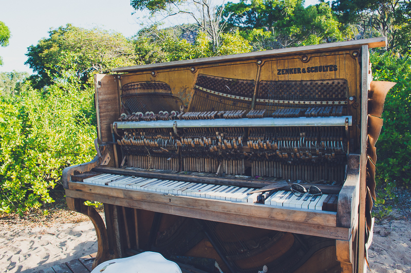 Piano at Radical Bay on Magnetic Island