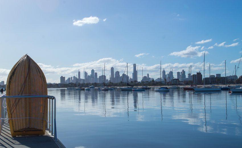 Melbourne skyline from St Kilda Pier