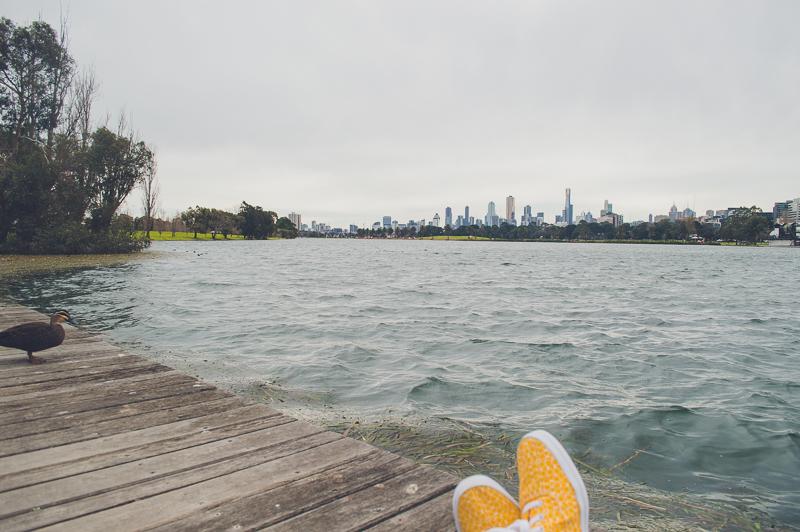 Melbourne Skyline from Albert Park Lake