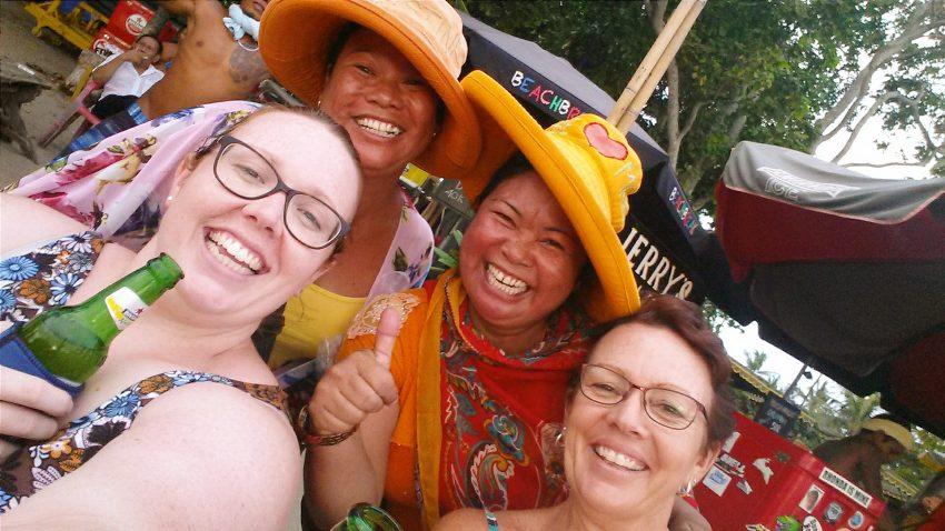 Our Balinese friends on Legian Beach in Bali