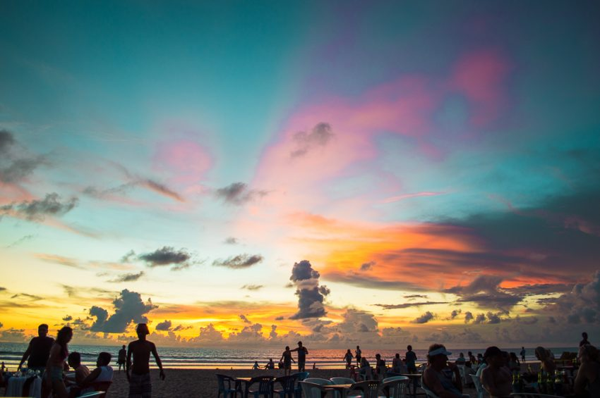 Sunsets on Legian Beach in Bali