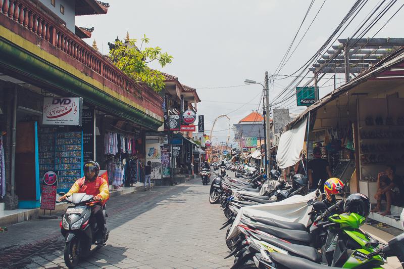Wandering Garlic Lane in Bali, Indonesia