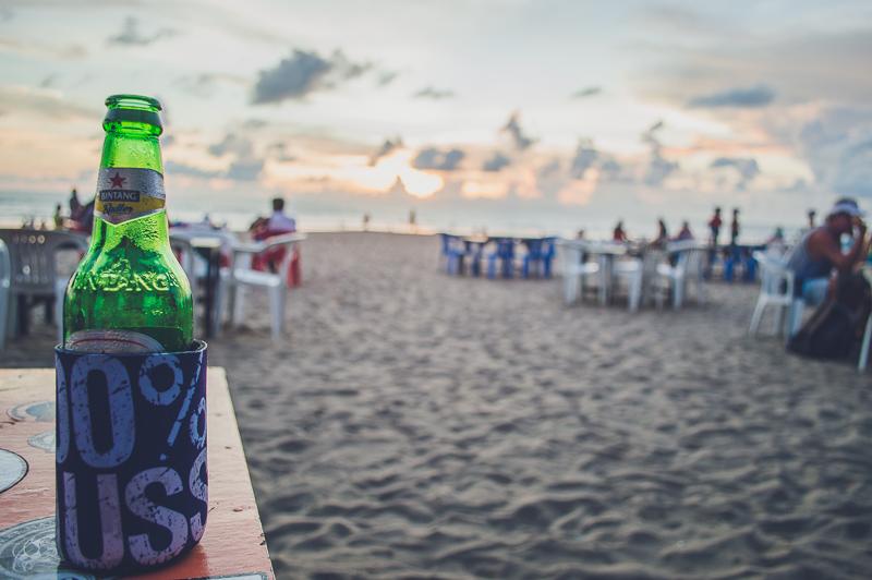 Bintangs on Legian Beach in Bali