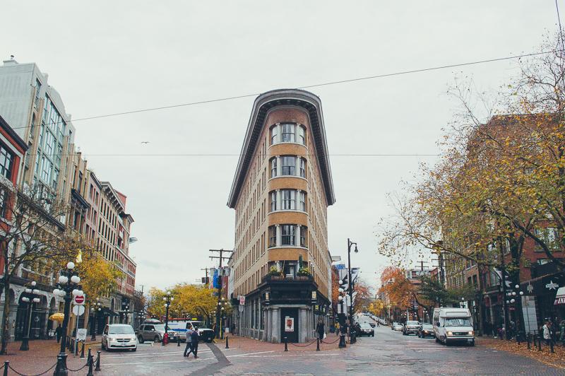 Mini Flatiron building in Gastown, Vancouver's historic neighbourhood.