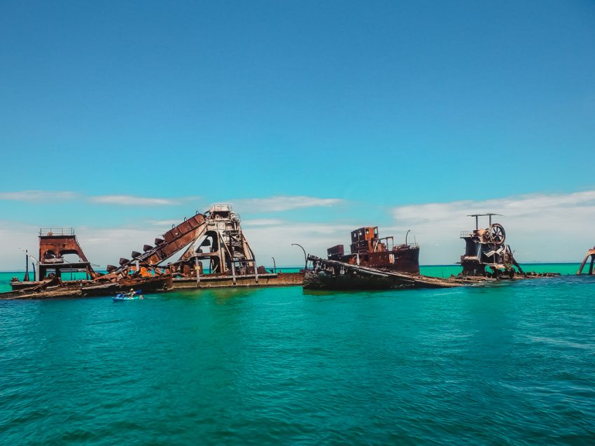 Tangalooma Wrecks off Moreton Island in Queensland, Australia. Just one of the fun things to do in Brisbane!