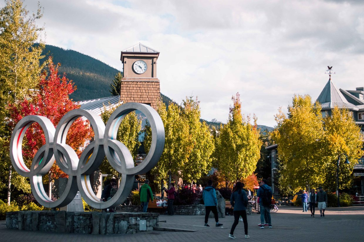 The Olympic Rings in Whistler, a great day trip from Vancouver option.