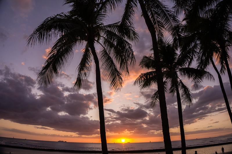 Sunsets in Oahu, Hawaii