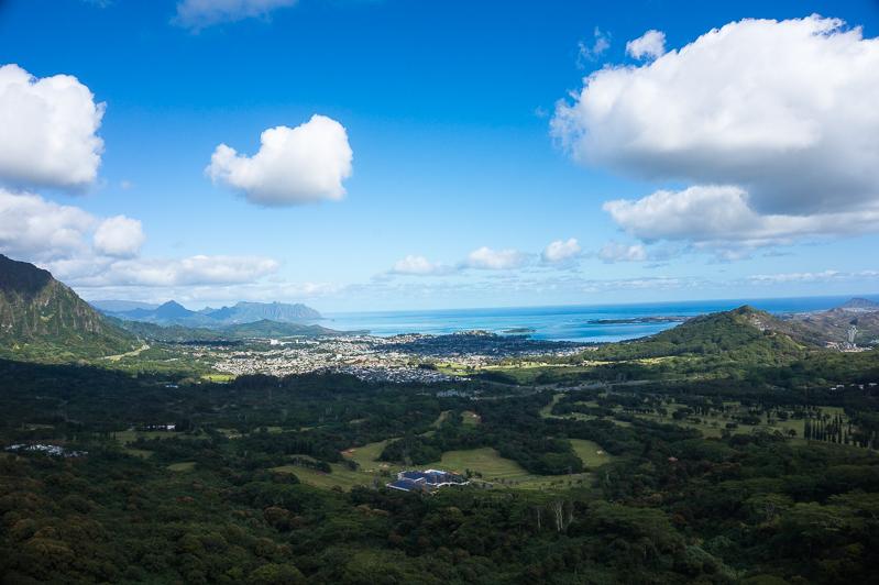 Lookout in Oahu, Hawaii