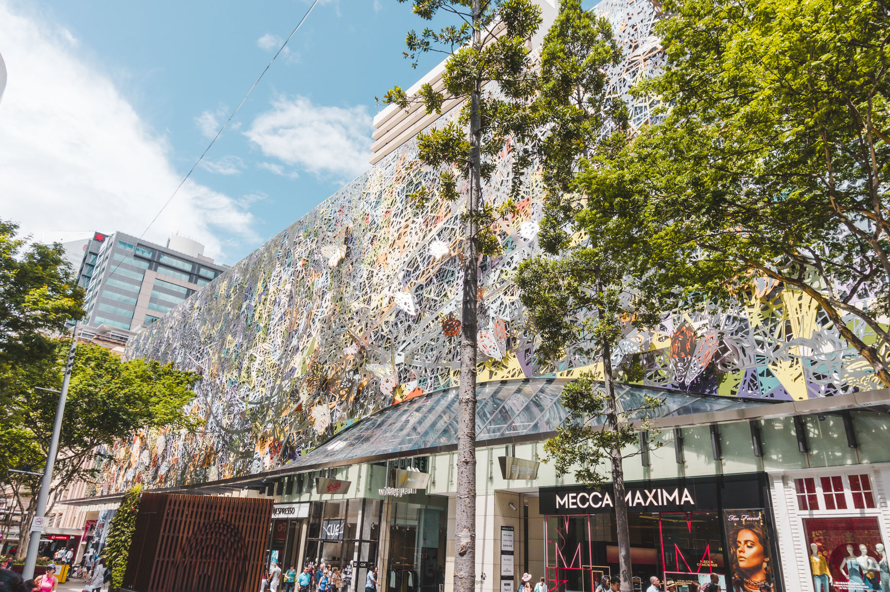 Fun things to do in Brisbane: shop til you drop in Queen Street Mall.