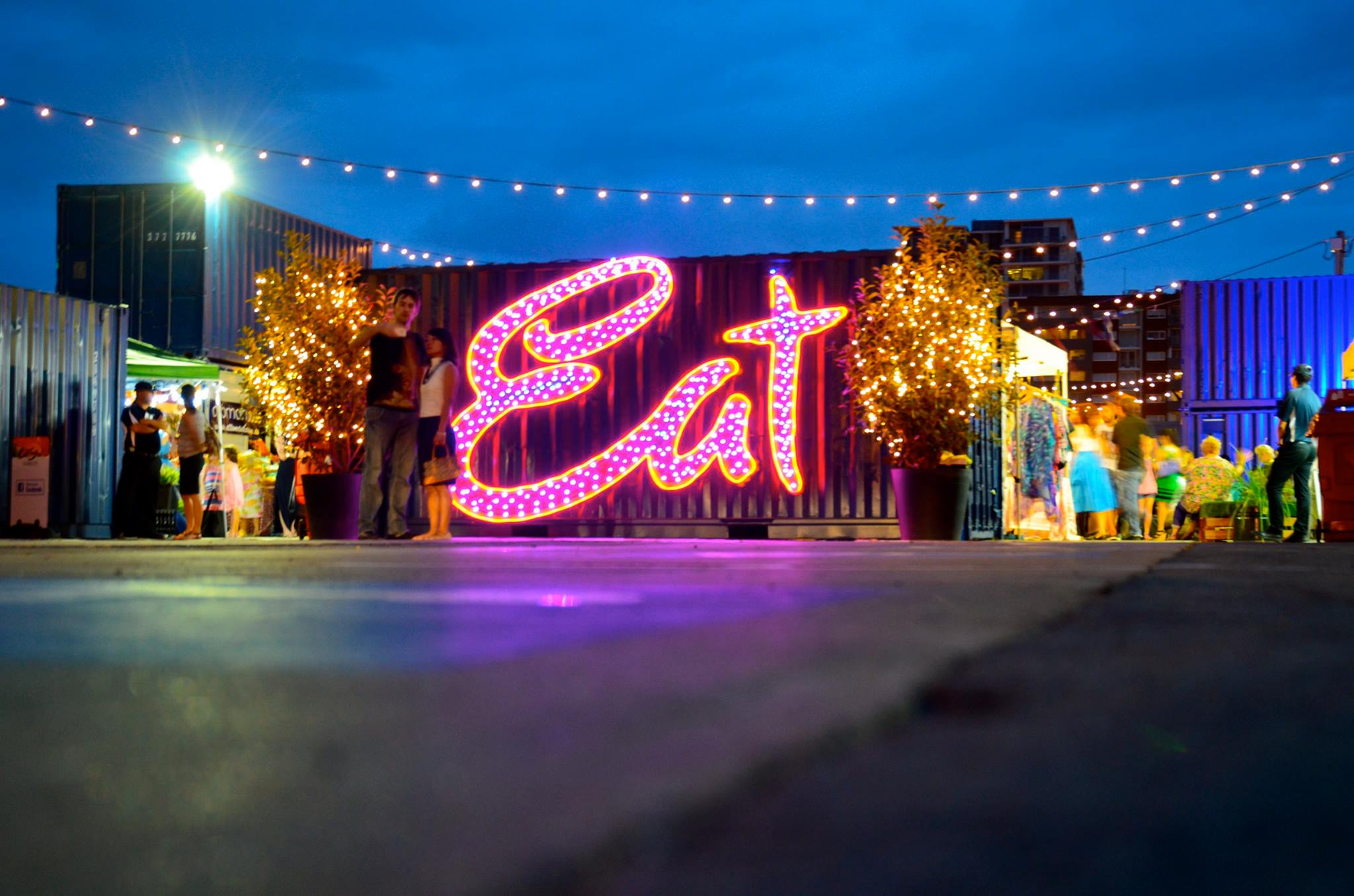 Fun things to do in Brisbane - check out Eat Street Market