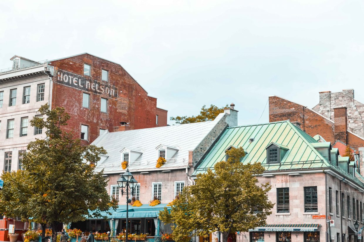 Old French architecture in Quebec City. Visiting Quebec and staying in an Airbnb is a must for your North America itinerary.