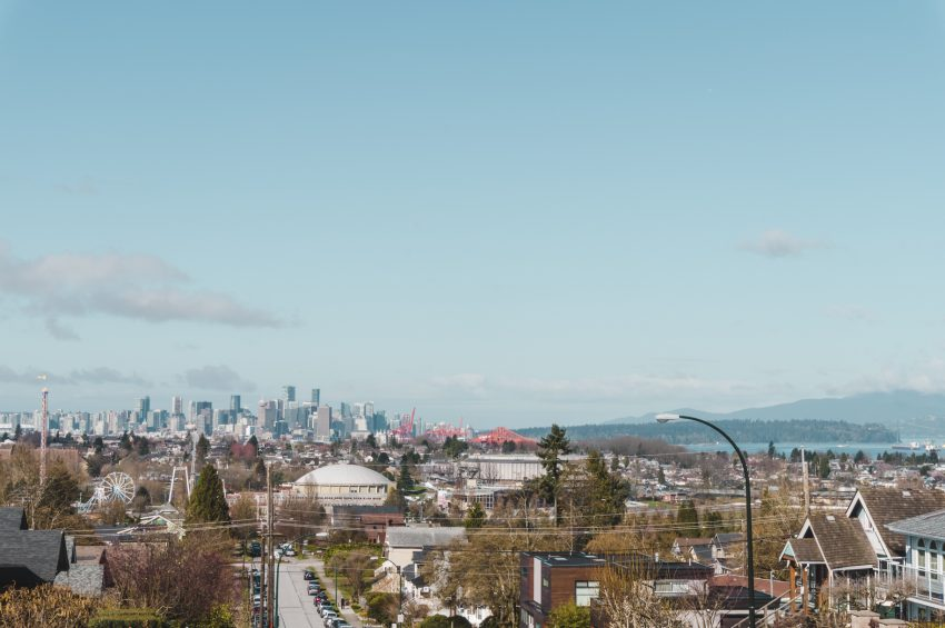Photograph the Vancouver skyline from Burnaby
