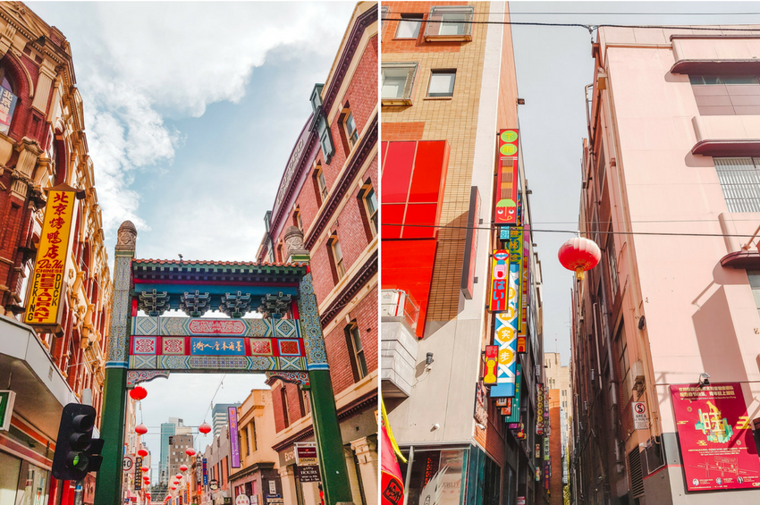 Chinese New Year in Chinatown in Melbourne, Australia
