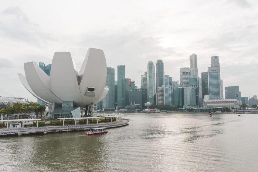 Singapore photos. One of the best things to do in Singapore is to walk around Marina Bay.