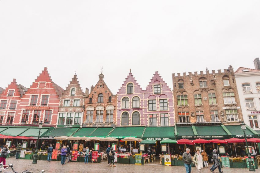 Colourful Dutch architecture in Bruges, Belgium