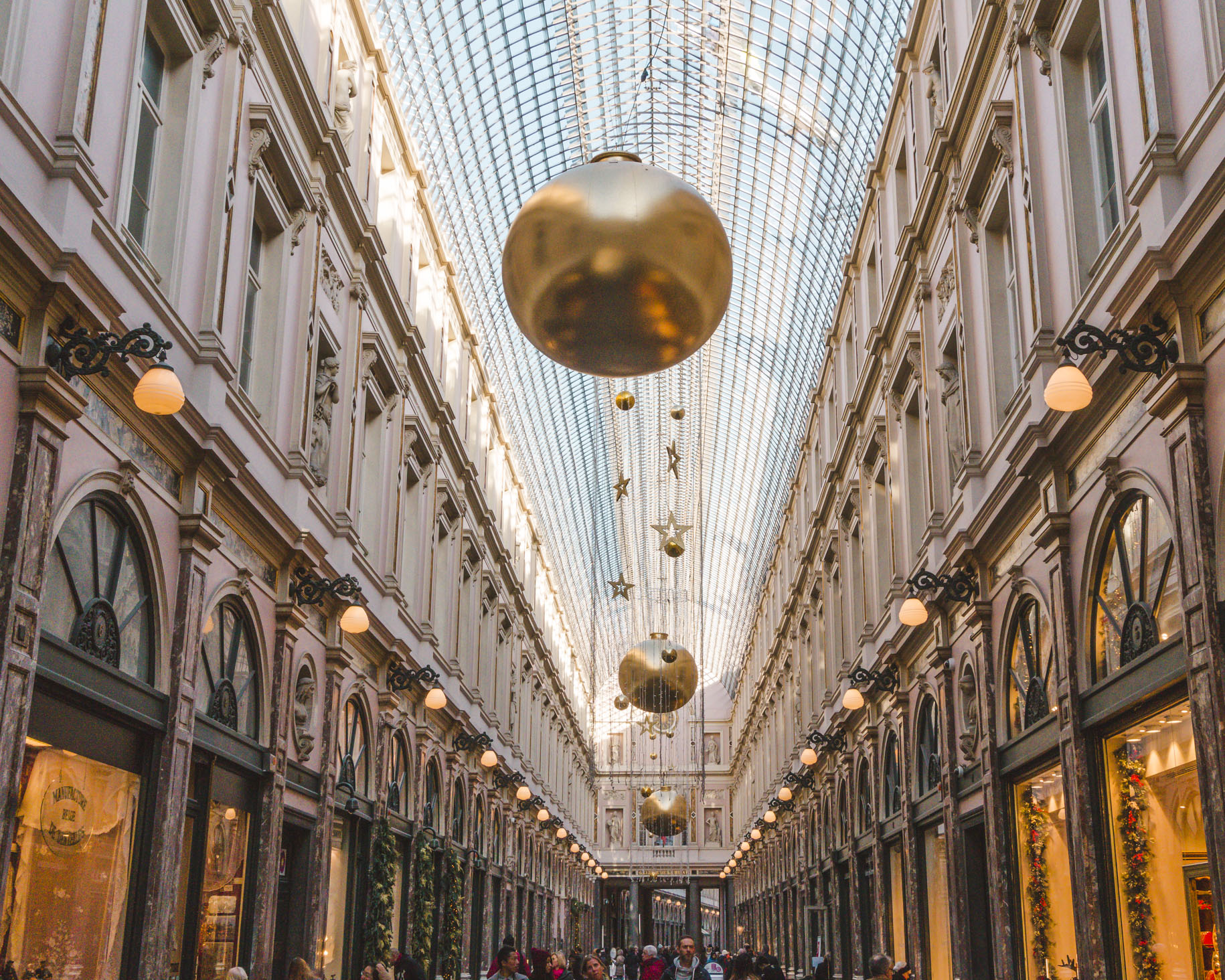 The photogenic Royal Saint-Hubert Galleries in Brussels, which is one of my favourite solo travel destinations in Europe.