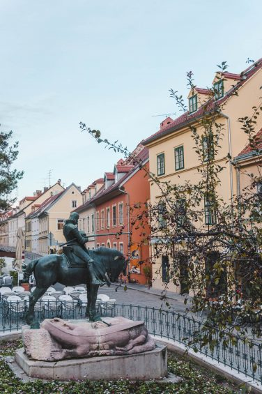 Walking the streets in Zagreb, Croatia