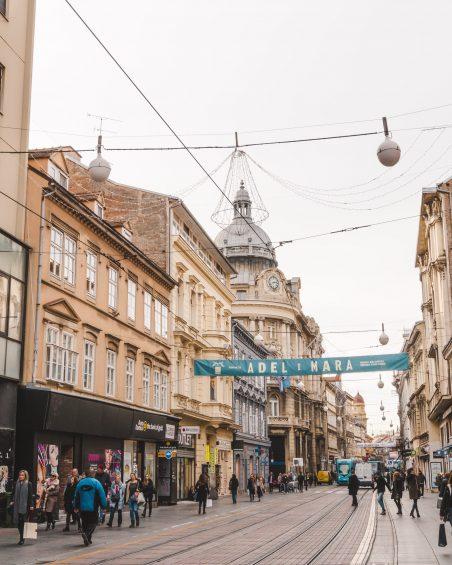 The main shopping street in Zagreb, Croatia