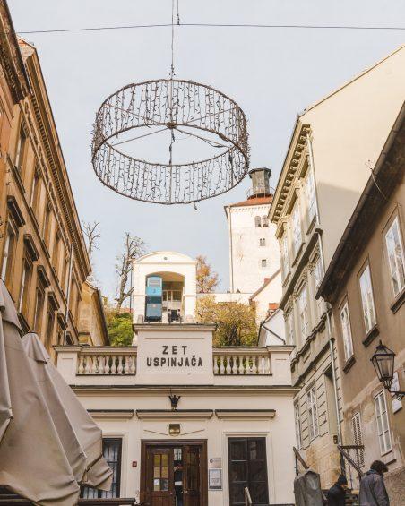 Funicular in Zagreb, Croatia