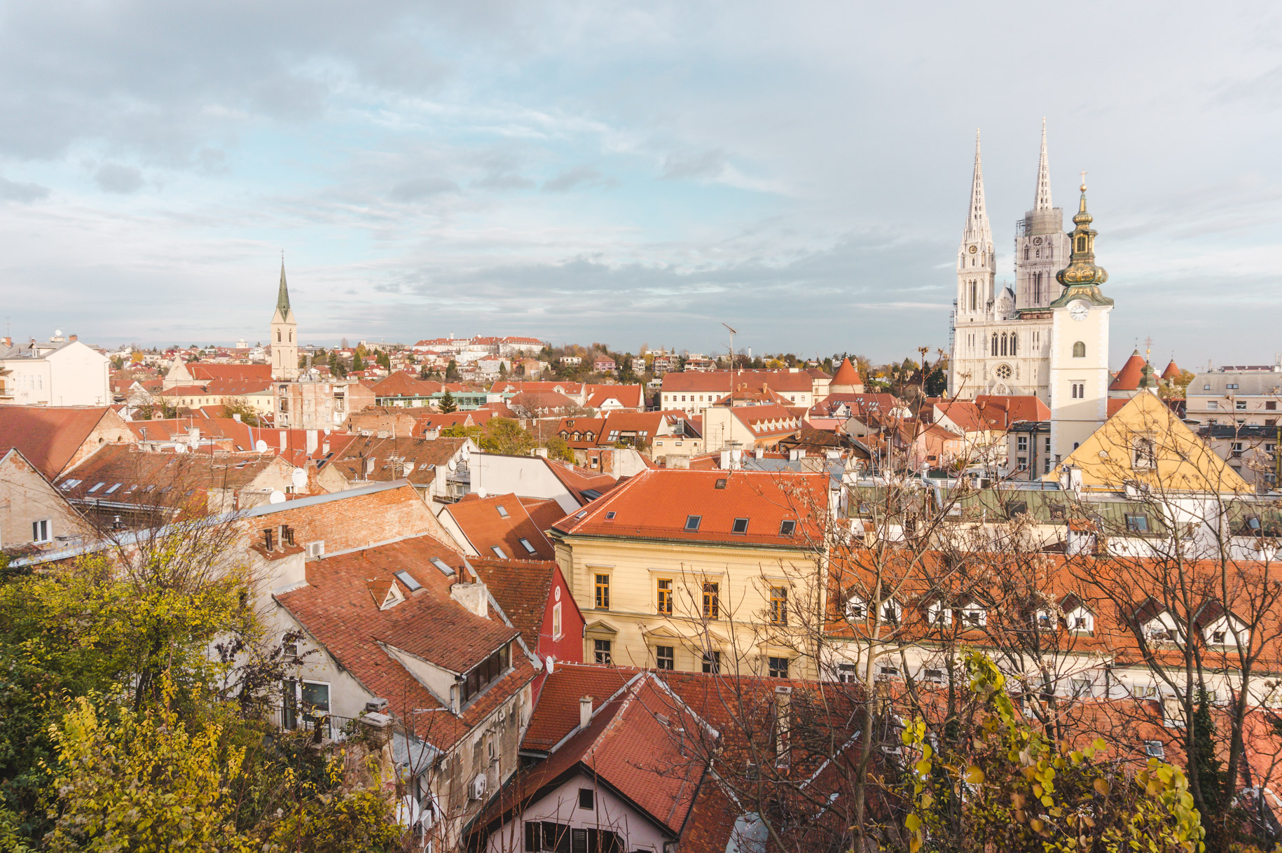 Terracotta roof views in Zagreb, Croatia, a city that should be on your Europe itinerary.