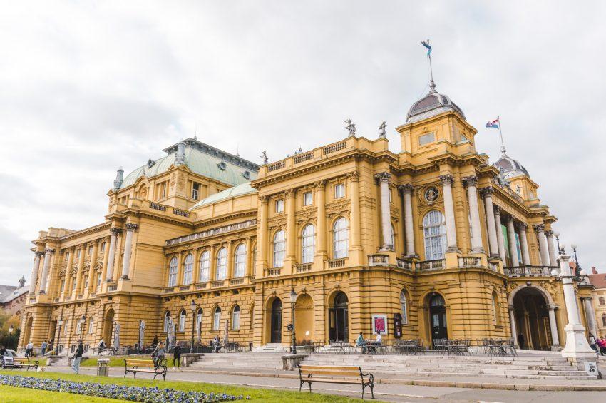 National Theatre in Zagreb, Croatia