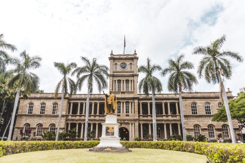 Court building in Honolulu, Hawaii (one of my favourites cities for solo female travel USA).