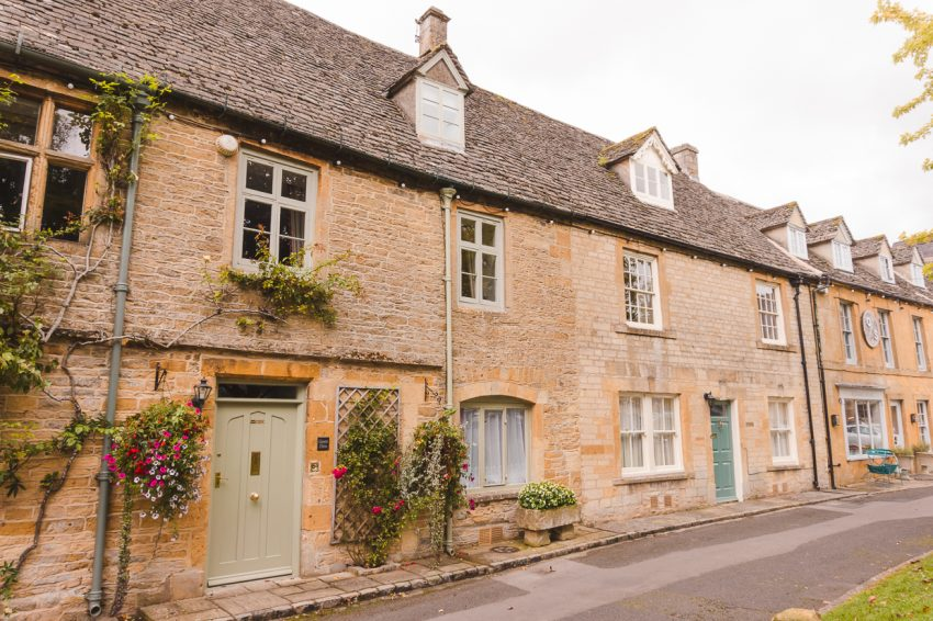 Cute buildings in the Cotswolds, England. Definitely add the Cotswolds to your UK and Europe itinerary.