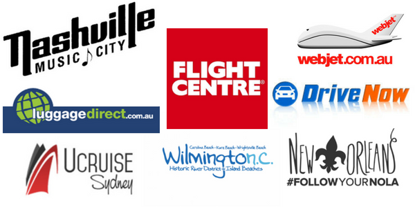 Brands that have worked with Hayley on Holiday, an Australian travel blogger