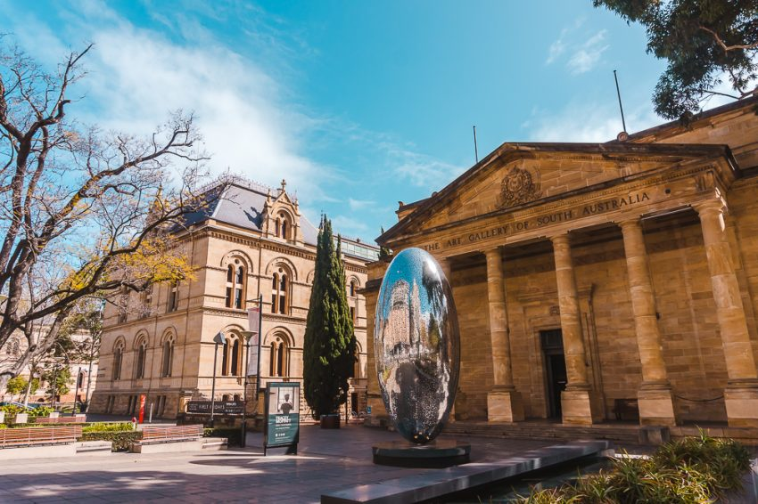 The historic Art Gallery of South Australia
