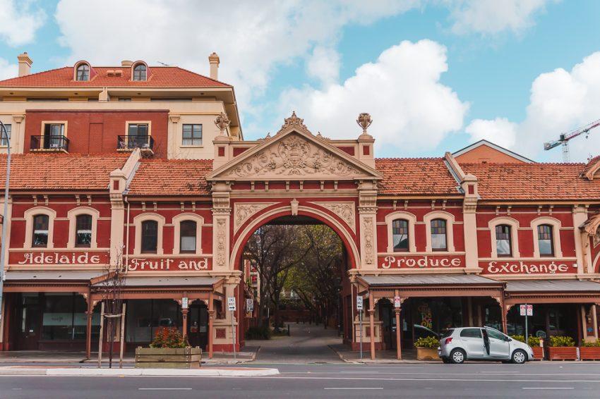 Historic building in Adelaide's East End neighbourhood