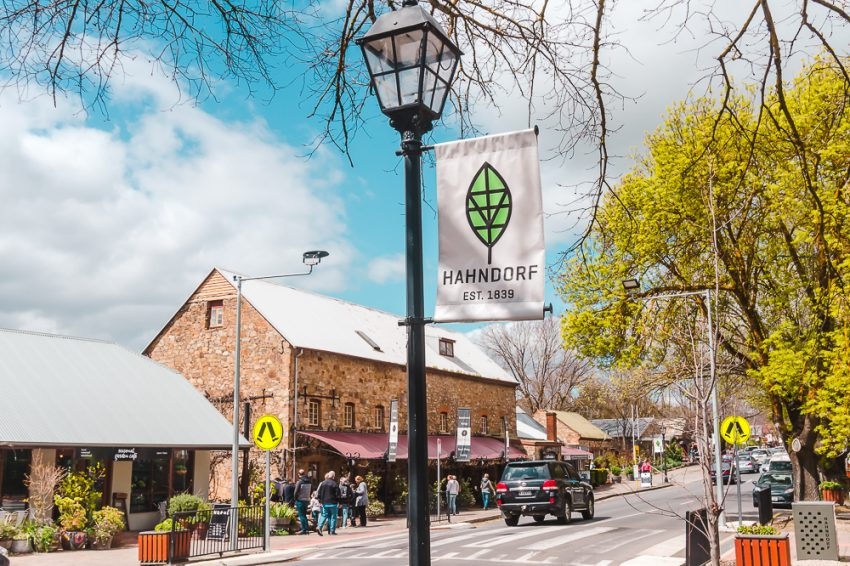 The main street in Hahndorf, one of the best day trips from Adelaide.