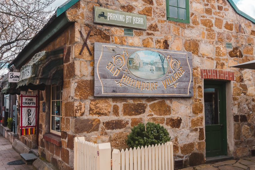 Old stone building along the main street in Hahndorf, one of the best day trips from Adelaide.