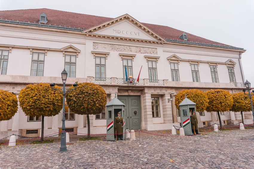 Sándor Palace in Budapest, Hungary. Check it out when looking for free things to do in Budapest in winter.