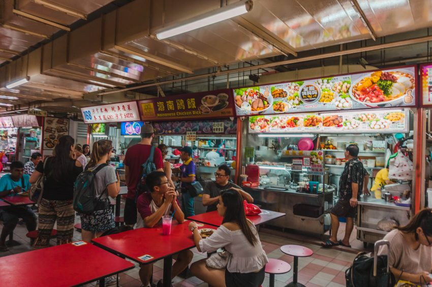 Visit Singapore on a budget and eat at hawker centres.