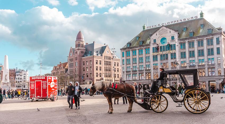 Three Days in Amsterdam: wander around Dam Square