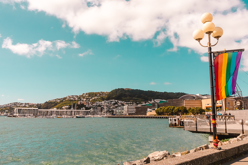 Walk along the waterfront in Wellington