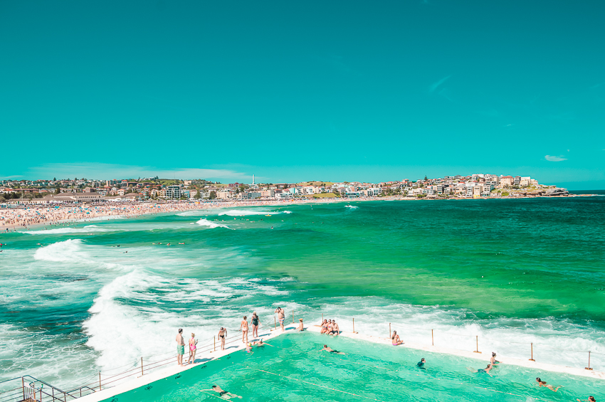 Bondi Beach in Sydney, one of the best places to visit in Australia on a solo weekend getaway.