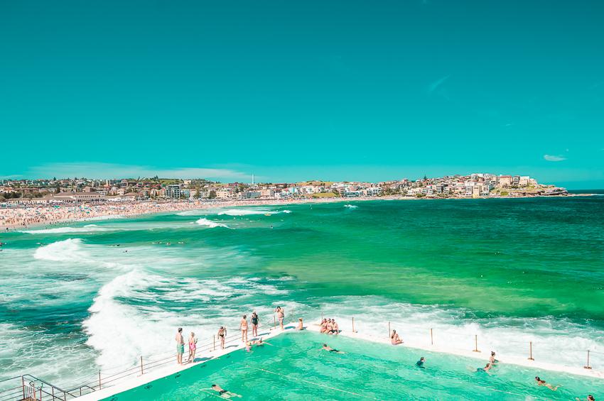 Places to visit in Australia: Bondi Beach in Sydney