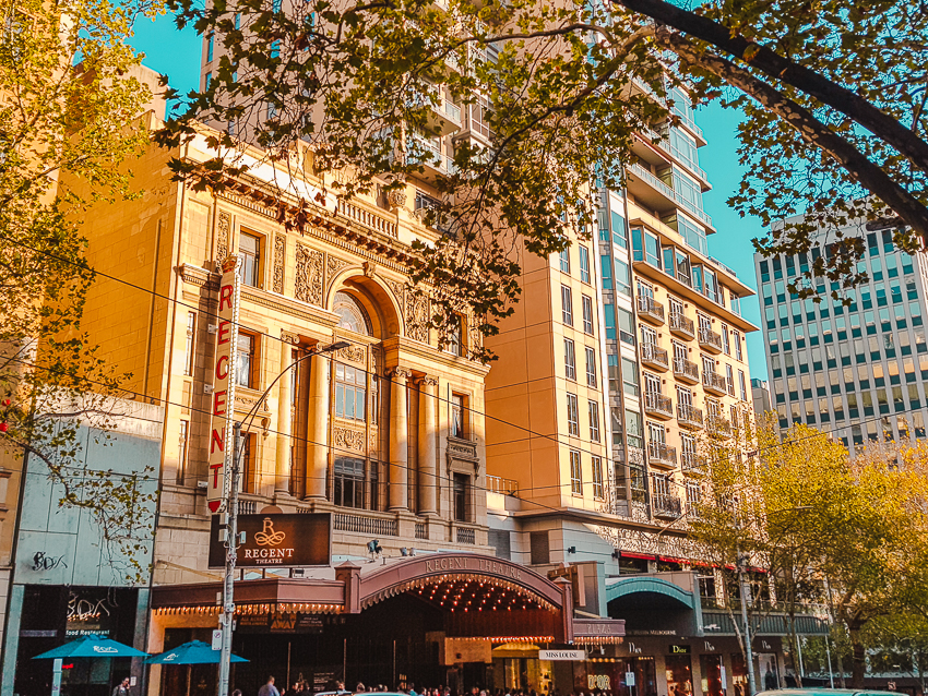 Things to do in Melbourne at night - visit Regent Theatre.