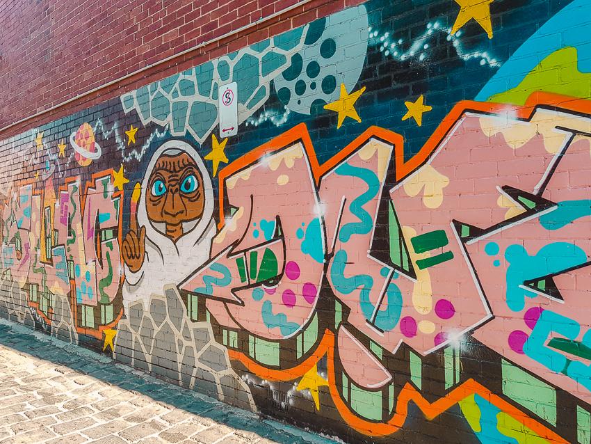 Fitzroy street art in Melbourne