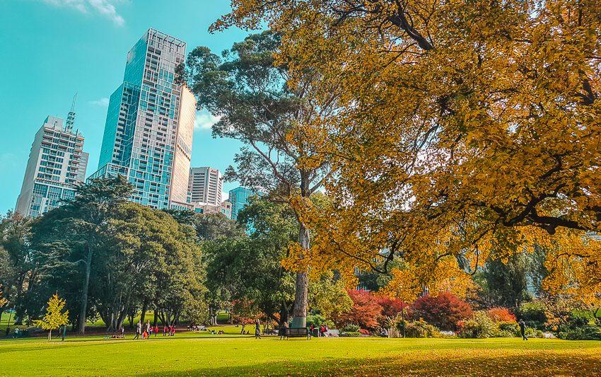 Fall bucket list - Fitzroy Gardens in Melbourne